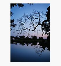 Night lake background Photographic Print