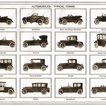 Typical forms of Motor car 1913 by artfromthepast