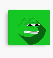 Pepe Material Green Fanart Canvas Print