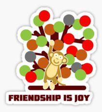Friendship Is Joy Sticker