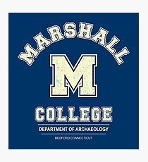 Indiana Jones - Marshall College Archaeology Department Distressed Photographic Print