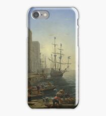 Claude - Seaport With The Embarkation Of Saint Ursula iPhone Case/Skin