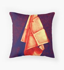 Drawing of drape with folds  Throw Pillow