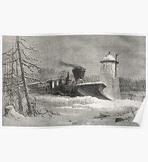 Snow Plough, Grand Trunk Railway, Canada Poster