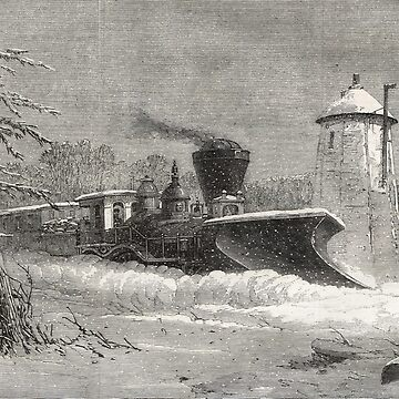 Snow Plough, Grand Trunk Railway, Canada by artfromthepast