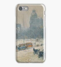 Childe Hassam - Winter In Union Square iPhone Case/Skin