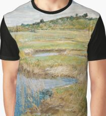 Childe Hassam - The Concord Meadow, Concord, Massachusetts Graphic T-Shirt