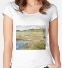 Childe Hassam - The Concord Meadow, Concord, Massachusetts Women's Fitted Scoop T-Shirt
