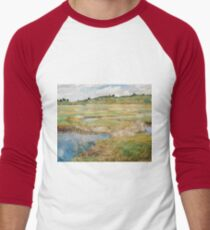 Childe Hassam - The Concord Meadow, Concord, Massachusetts Men's Baseball ¾ T-Shirt