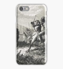 Indians hunting Buffalo in the 19th century iPhone Case/Skin