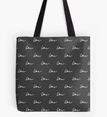 Simple cute black pattern. Love seamless background. Vector illustration. Tote Bag