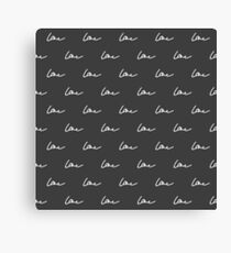 Simple cute black pattern. Love seamless background. Vector illustration. Canvas Print
