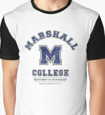 Indiana Jones - Marshall College Archaeology Department Distressed Variant  Graphic T-Shirt