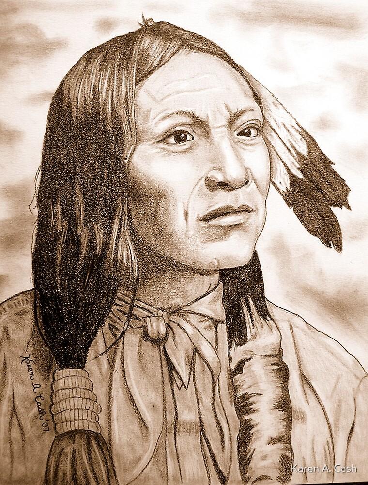'Black Coyote'-Arapaho by Karen A. Cash