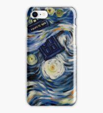 Starry Starry Tardis iPhone Case/Skin