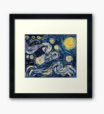 Starry Starry Tardis Framed Print