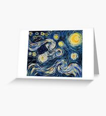 Starry Starry Tardis Greeting Card