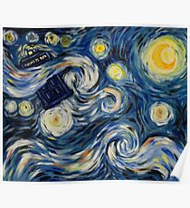Starry Starry Tardis Poster