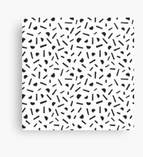 Simple memphis style black pattern. Seamless abstract background. Canvas Print