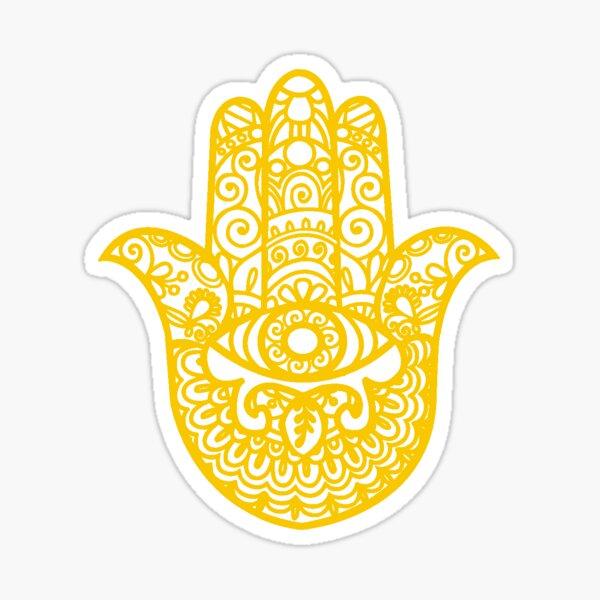 Hamsa Main de Fatima | Jaune | Globe-trotter Sticker