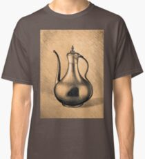 Realistic drawing of metal pitcher with handle Classic T-Shirt