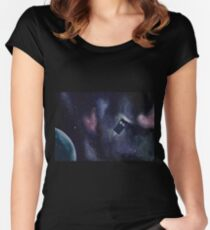 Tardis in Space Women's Fitted Scoop T-Shirt