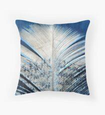 Feather   Feathers   White and Blue Feather   Spiritual Throw Pillow