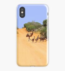 Emus on the track iPhone Case