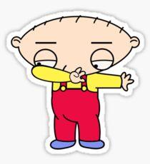 stewie dabbing Sticker