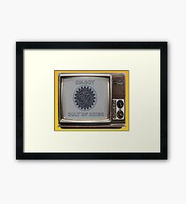 OM-BOT Noise Cult TV Framed Print