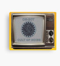 OM-BOT Noise Cult TV Canvas Print