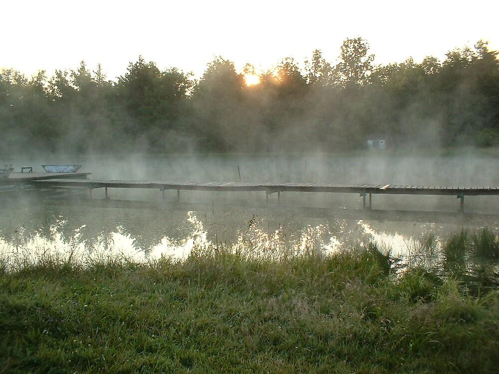 Misty Dock by Joseph Klatka
