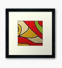 YELLOW ORANGE, GREEN BLACK, modern decor Framed Print