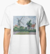 Camille Pissarro - The Windmill At Knokke, 1894 Classic T-Shirt