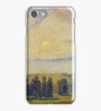 Camille Pissarro - Sunset At Eragny, 1890 iPhone Case/Skin