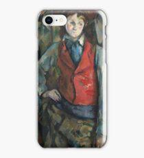 Camille Pissarro - Boy In A Red Waistcoat, 1888 iPhone Case/Skin