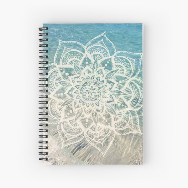 Water Mandala Spiral Notebook