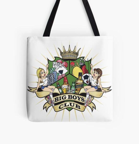 Big Boys Club Coat of Arms All Over Print Tote Bag