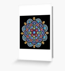 Mandala Dot Art by Mandalaole Greeting Card