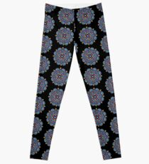 Mandala Dot Art by Mandalaole Leggings