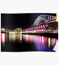 Harbour Bridge, Vivid Sydney Poster