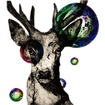 Bubble Stag by ImogenSmid