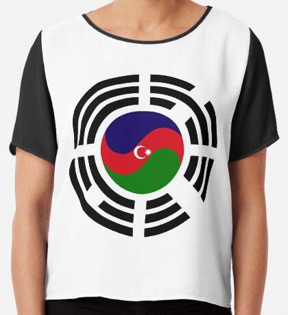 Korean Azerbaijan Multinational Patriot Flag Series Chiffon Top