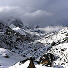 Fresh snow in Lobuche with Pumori (Unmarried Daughter) 7161 and Lingtren by MichaelBr