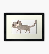 retro cartoon cat Framed Print