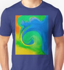 Land and Sea - Semi-Abstract Pastel Drawing Unisex T-Shirt