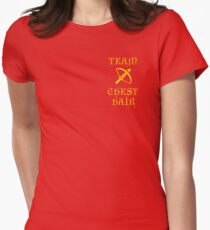Team Chest Hair Womens Fitted T-Shirt
