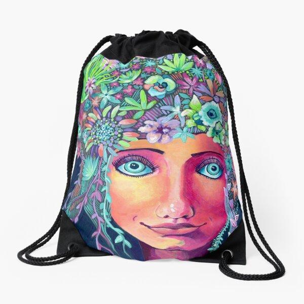 Spring Hair Drawstring Bag