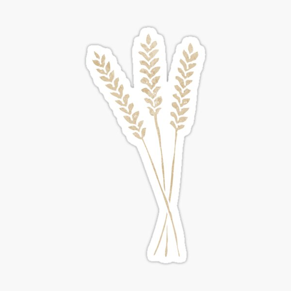 retro cartoon wheat Sticker