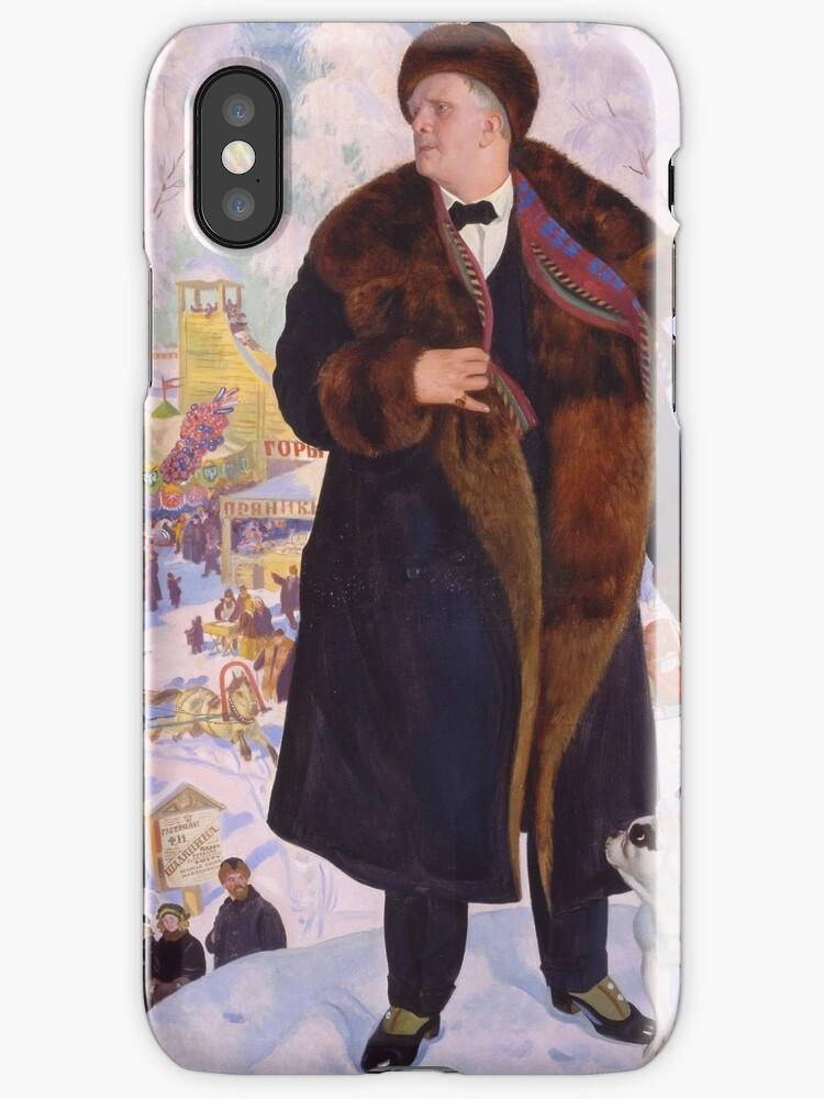 Boris Kustodiev - Portrait Of Fyodor Chaliapin 1922 by artcenter